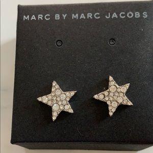 Marc Jacobs star rhinestone earrings. NWOT